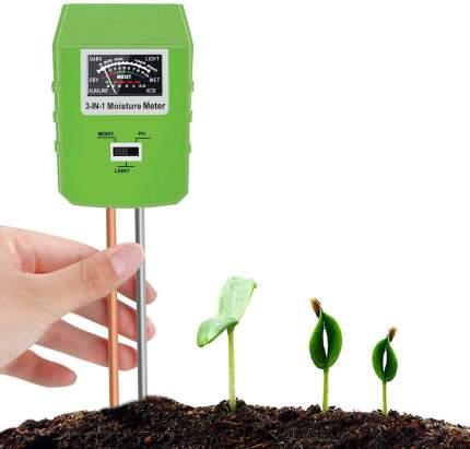 Прибор-измеритель 3 в 1 кислотности PH, влажности, освещенности почвы Планета Садовод
