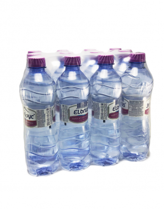 Вода Эльбрус негазированная в пластиковой бутылке 0.5 л 12 штук