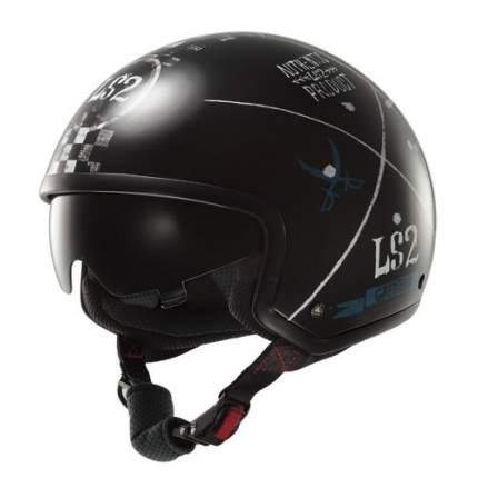 Шлем LS2 OF561 WAVE GREATEST BLACK, размер S