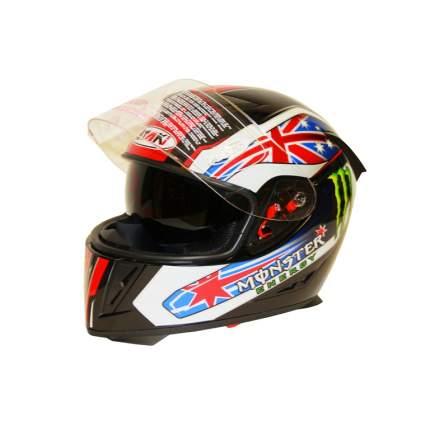 Шлем (интеграл) Ataki FF311 Monster чёрный глянцевый, размер XL