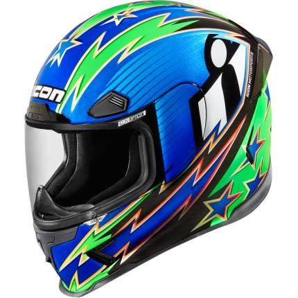 Шлем ICON AIRFRAME WARBIRD blue, размер M