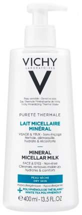 Минеральное мицеллярное молочко Vichy Purete Thermal для сухой и нормальной кожи, 400 мл