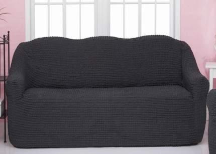 Чехол на трехместный диван без оборки CONCORDIA, тёмно-серый