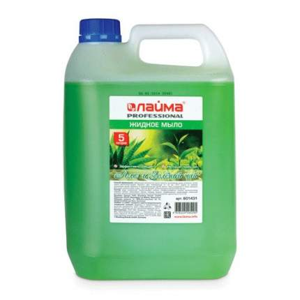 Жидкое мыло Лайма PROFESSIONAL, Алоэ и зеленый чай, 5 л
