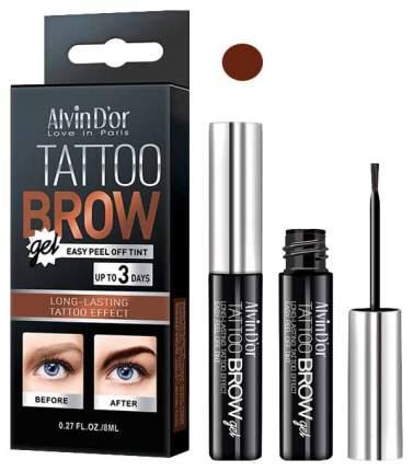 Гель-тинт для бровей Alvin D'or Tattoo Brow Dark Brown