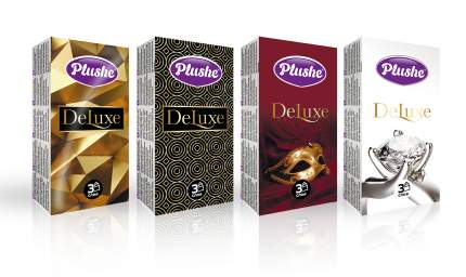 Plushe Deluxe платочки носовые 3 слоя, 10 листов