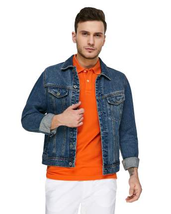 Футболка-поло мужская United Colors of Benetton 3089J3179 оранжевая XXL