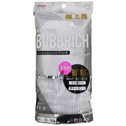 Мочалка для тела AISEN Bubbrich с высоким пенообразованием жесткая, 28 х 100 см.
