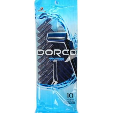 Одноразовые бритвы DORCO 2 лезвия 10 шт