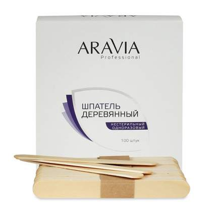 ARAVIA Шпатели Aravia Professional Деревянные Одноразовые, 100 шт