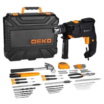Дрель ударная сетевая DEKO DKID600W в кейсе + набор инструментов 40 предметов 063-4158