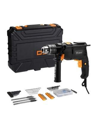 Дрель ударная сетевая DEKO DKID600W в кейсе + набор инструментов 92 предмета 063-4157