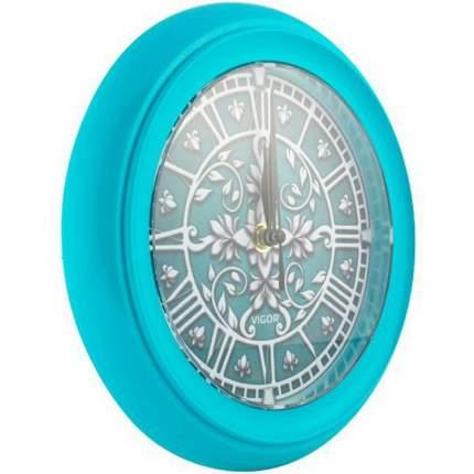 Часы настенные Vigor Д-24 Лепнина в бирюзовом