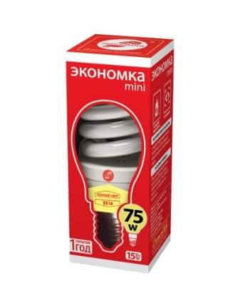 Лампа энергосберегающая E14 ЭКОНОМКА 15w 230v T2 SPC теплый