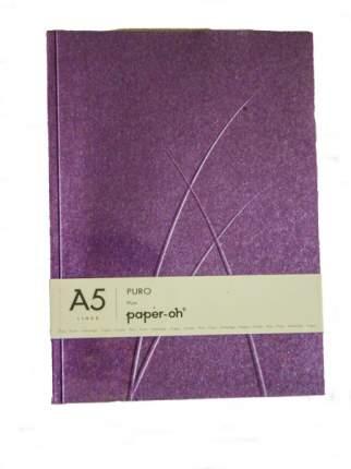 Записная книжка PaperOh Puro Plum A5 лин. 148*210 мм, 112 стр.