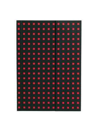 Записная книжка PaperOh Quadro B6.5 Черный на Красном