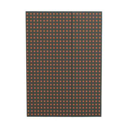 Записная книжка PaperOh Quadro B6 Серый на Оранжевом