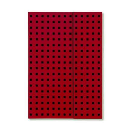 Записная книжка PaperOh Quadro B6 Красный на Черном