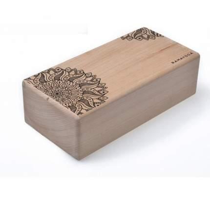 Кирпич для йоги с дизайном Мандала (1 кг, 8 см, 23 см, бежевый, 11 см)