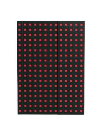 Записная книжка PaperOh Quadro B6 Черный на Красном