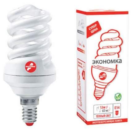 Лампа энергосберегающая E14 ЭКОНОМКА 13w 230v Т3 SPC теплый