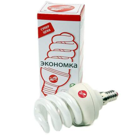 Лампа энергосберегающая E14 ЭКОНОМКА 11w 230v Т3 SPC теплый
