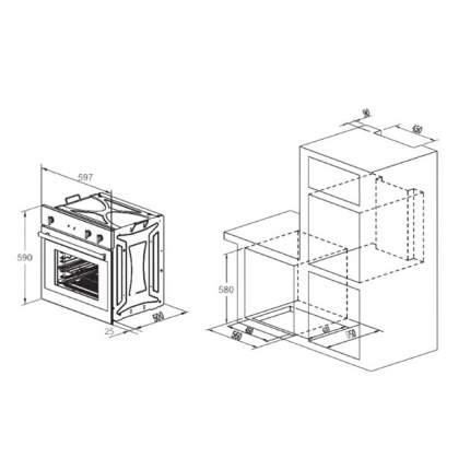 Встраиваемый электрический духовой шкаф Zigmund&Shtain EN 130.922 A