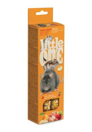 Палочки Little One для хомяков, крыс, мышей и песчанок с фруктами и орехами, 120г