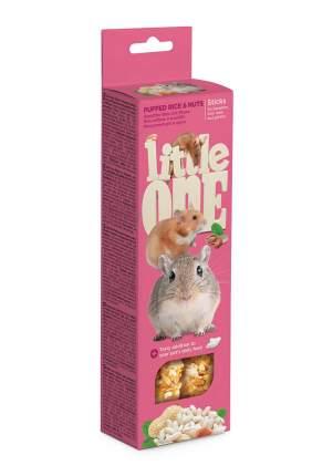 Палочки Little One для хомяков, крыс, мышей и песчанок. Воздушный рис и орехи, 110г