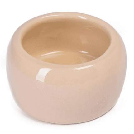 Одинарная миска для грызунов Nobby, керамика, бежевая, 125 мл
