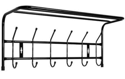 Вешалка настенная с полкой, 600x238x268 мм 6 крючков