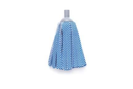 Насадка для швабры с резьбой ленточная синтетика синий/белый