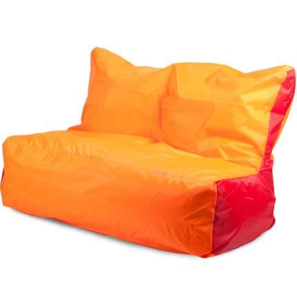 Бескаркасный диван ПуффБери Оксфорд one size, оксфорд, Оранжевый/Красный