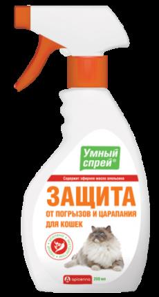 Cпрей для защиты от погрызов и царапания кошек APICENNA Умный Спрей, 200мл
