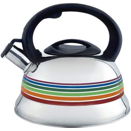 Чайник для плиты WEBBER BE-0523, нержавейка, 3л, меняет цвет при закипании