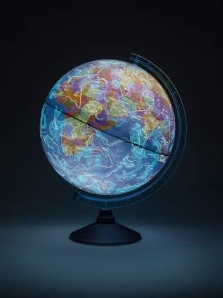 """Globen Интерактивный глобус """"ДЕНЬ И НОЧЬ"""" d250, с подсветкой от батареек + раскраска"""