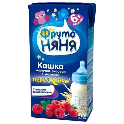 Каша молочная ФрутоНяня Рисовая с малиной с 6 мес. 200 г