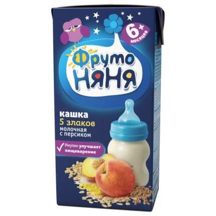 Каша молочная ФрутоНяня 5 злаков с персиком с 6 мес. 200 г