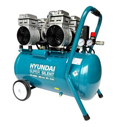 Безмасляный воздушный компрессор Hyundai HYC 3050S (бесшумный)