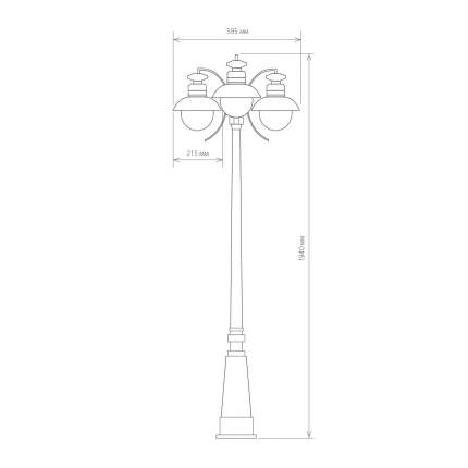 Фонарный столб Elektrostandard Talli F/3 брауни (GL 3002F/3)
