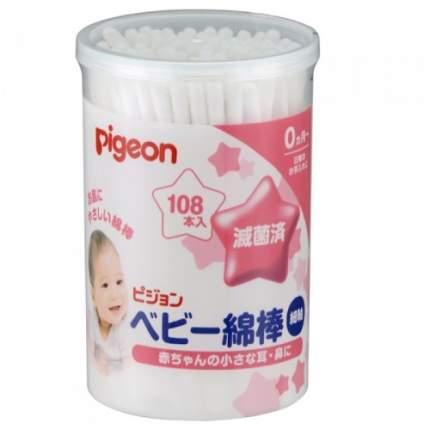 Ватные палочки Pigeon для детей с рождения, 108 шт.
