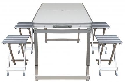 Стол складной четырёхместный алюминиевый UPU Ladder UPCZ-2