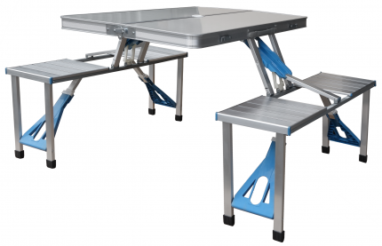 Стол складной четырёхместный алюминиевый UPU Ladder UPCZ-1