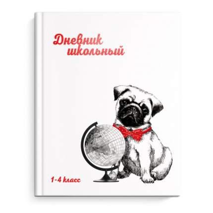 Дневник школьный Феникс+ 1-4 класс арт. 51834 ГЛОБУС И СОБАЧКА