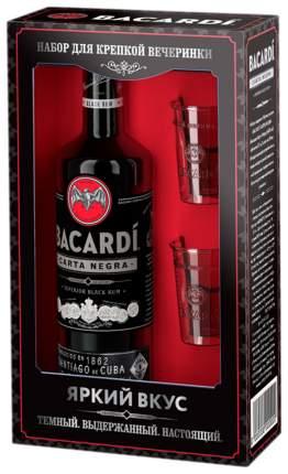 Ром Bacardi Carta Negra 0,7 л + 2 шота