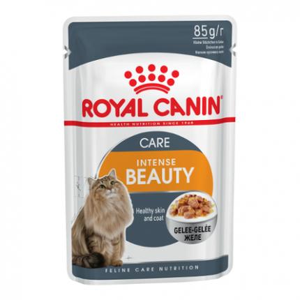 Влажный корм для кошек ROYAL CANIN Feline Health Nutritiom Intense Beauty, мясо, 24шт, 85г
