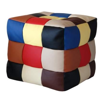 Кресло-мешок Папа Пуф Мини Rainbow, размер XS, экокожа, разноцветный