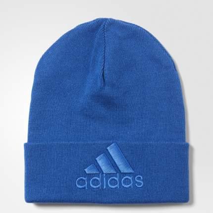 Шапка Adidas Logo Woolie AY6574, синий, 56-58