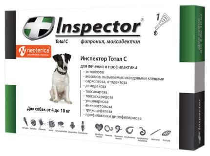 Капли для собак против блох, власоедов, вшей, клещей Inspector, 4-10 кг, 1 пипетка, 1 мл