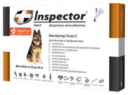 Капли для собак против блох, власоедов, вшей, клещей Inspector, 25-40 кг, 1 пипетка, 4 мл